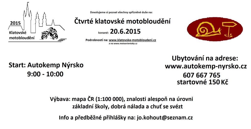 Pozvánka Klatovy 2015